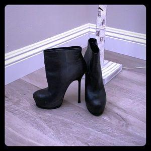 Ysl platform ankle boots